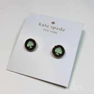 Kate Spade Mint Spot The Spade Stud Earrings